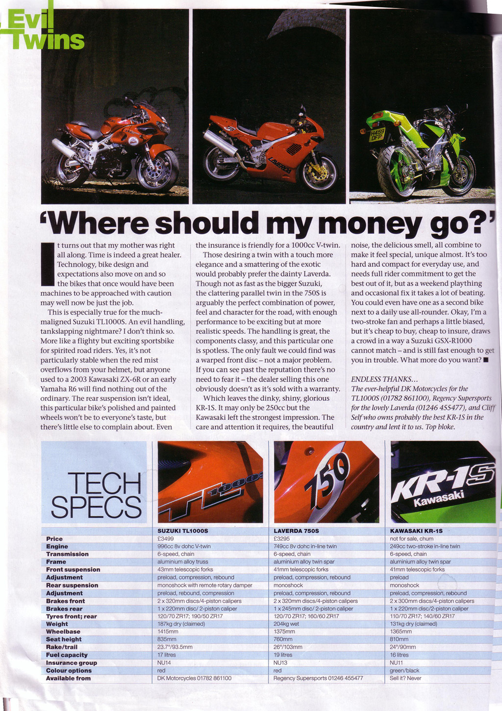 Bike Magazine KR-1S review Page 4
